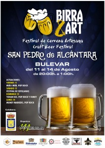 Cartel Birra&Art San Pedro 2017
