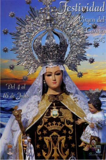 Noche Virgen pecho en Marbella