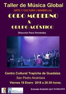Resultado de imagen de CLÁSICOS DEL POP Y FOLK del Taller de Música Global. Dirección: Paco Fernández