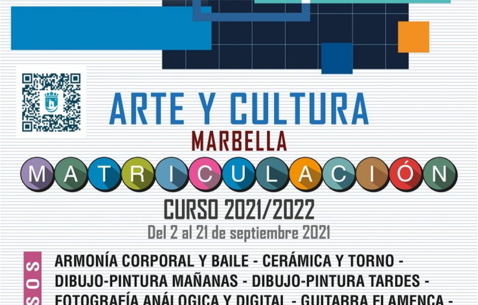 Matriculación en los cursos de Arte y Cultura 2021 - 2022